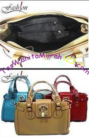 TFBK_TGB1_Tas Tangan dan Tas Slempang Satchel Lock Belt Brown Inside