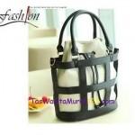 Tas 3 Style Hobo Stripe Box Black