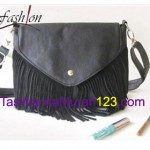 Tas Selempang Shred Button Black