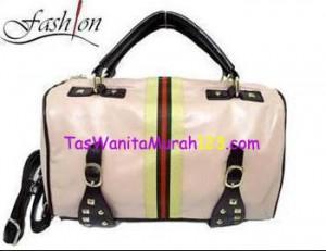 Tas Bahu dan Tas Slempang Virolita List Stripe Belt Pink