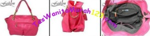 Tas Bahu dan Tas Slempang Virolita Croco Lux Chain Pink