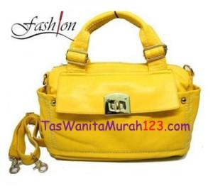 Tas Bahu dan Tas Slempang Virolita Pocket Latch Kuning