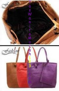 Tas Bahu Simple Woven Two Coklat di TasWanitaMurah