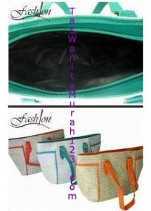 Tas Bahu Simple Side Pocket Hijau Turqois