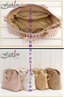 Tas Tangan Lux Sequins Pearl Dust Pink
