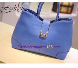 Toko Tas Online Menjual Tas Bahu Simple Tote Blue
