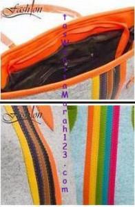Toko Tas Online Menjual Tas Bahu Center Colour Orange