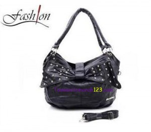 Tas Bahu & Slempang Side Ring Belt Hitam