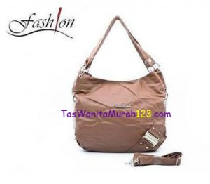 Tas Bahu & Slempang Side Ring Belt Cokelat Muda