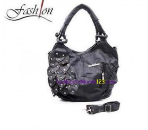 Tas Bahu & Slempang Grapes Iron Beaded Hitam