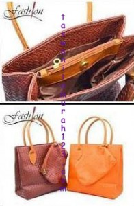 Tas Bahu Woven Simple Square Cokelat Bata