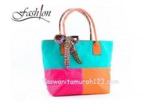Tas Wanita Murah Tipe Rainbow 2 Sisi Soft Green