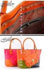 Tas Wanita Murah Rainbow Pouch Orange 1