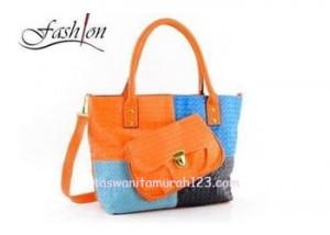 Tas Wanita Rainbow Pouch Orange 2