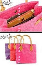 Tas Wanita Murah Woven Simple Square Pink