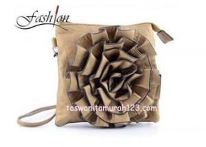 Tas Wanita Murah Import Tipe Bunga Coklat Perunggu