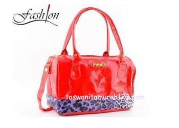Tas Wanita Furla Leopard Merah