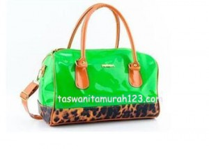 Tas Wanita Murah Furla Brown Leopard Hijau Muda