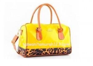 Tas Wanita Murah Furla Brown Leopard Kuning