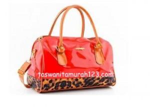 Tas Wanita Murah Furla Brown Leopard Merah