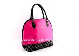 Tas Wanita Murah Furla Hobo Leopard Pink