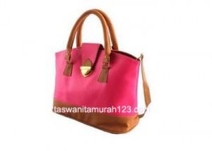 tas wanita murah simple klip pink