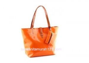 Tas Wanita Murah Simple Inline Klip Orange