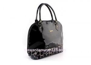 tas wanita murah furla hobo leopard hitam