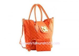 Tas Wanita Murah Tipe Rhombus Klip Orange