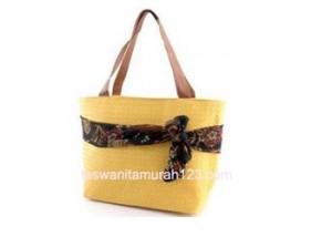 Tas Wanita Murah Ribbon Belt Kuning