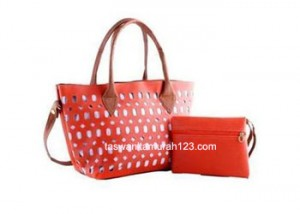 Tas Wanita Murah Motif Simple Perforated Orange