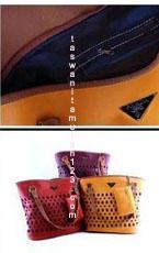 Tas Wanita Murah PR Perforated Kuning Tua