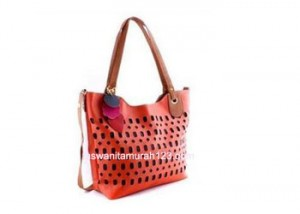 Tas Wanita Murah Simple Perforated Orange