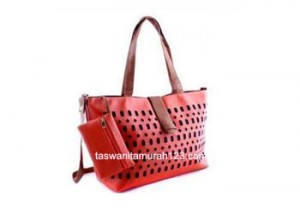 Tas Wanita Murah Inline Klip Perforated Orange