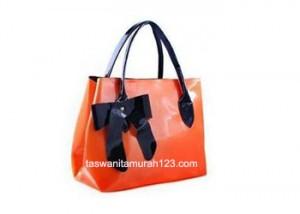 Tas Wanita Murah Hobo Ribbon Orange