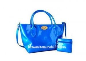 Tas Wanita Murah Color Metalic Klip Biru