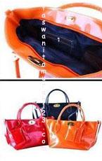 Tas Wanita Murah Color Metalic Klip Orange