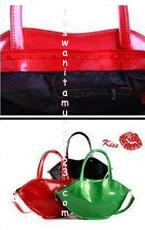 Tas Wanita Murah Lip Color Metalic Merah