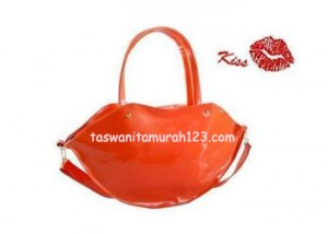 Tas Wanita Murah Lip Color Metalic Orange