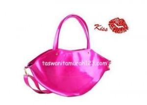 Tas Wanita Murah Lip Color Metalic Pink
