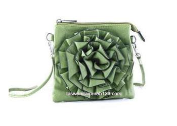 Tas Mini Import Model Bunga Moss Green