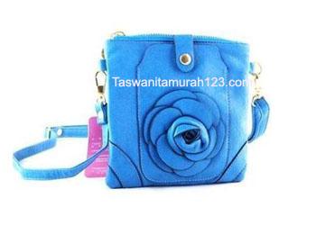 Tas Wanita Murah Tipe Mini Import Bunga Biru