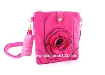 Tas Wanita Murah Tipe Mini Import Bunga Fuschia