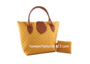 Tas Wanita Murah Rhombus Flap Kuning