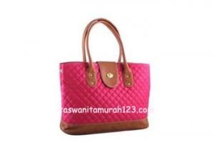 Tas Wanita Murah Rhombus Flap Klip Pink