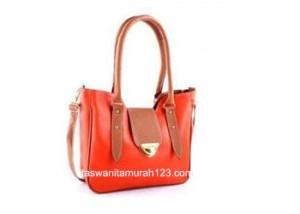Tas Wanita Murah Mini Satchel Klip Orange