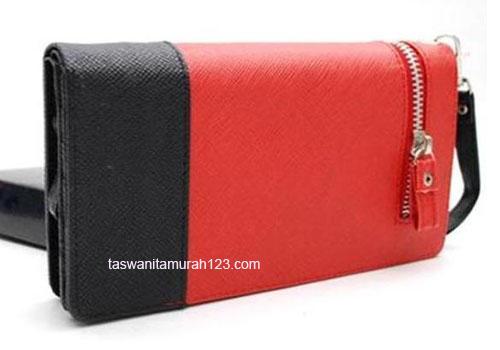 Dompet Murah Two Color Merah Hitam