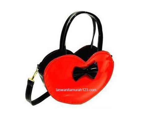 Tas Wanita Murah Mini Love Merah