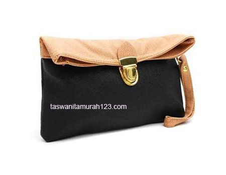 Clutch Murah Colorful Hitam
