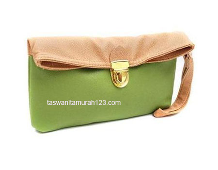 Clutch Murah Colorful Hijau Muda